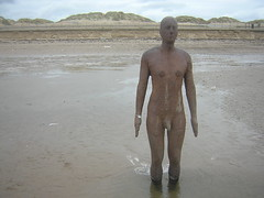 Another Place statue (Ulleskelf) Tags: uk sculpture beach statue crosby merseyside anthonygormley anotherplace crosbybeach