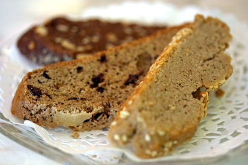 Dish of biscotti