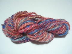 spindle spun and plyed