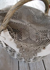 Hand crocheted doily... (SandraStJu) Tags: home picnic handmade linen crochet crocheted decor doily tablemat naturale