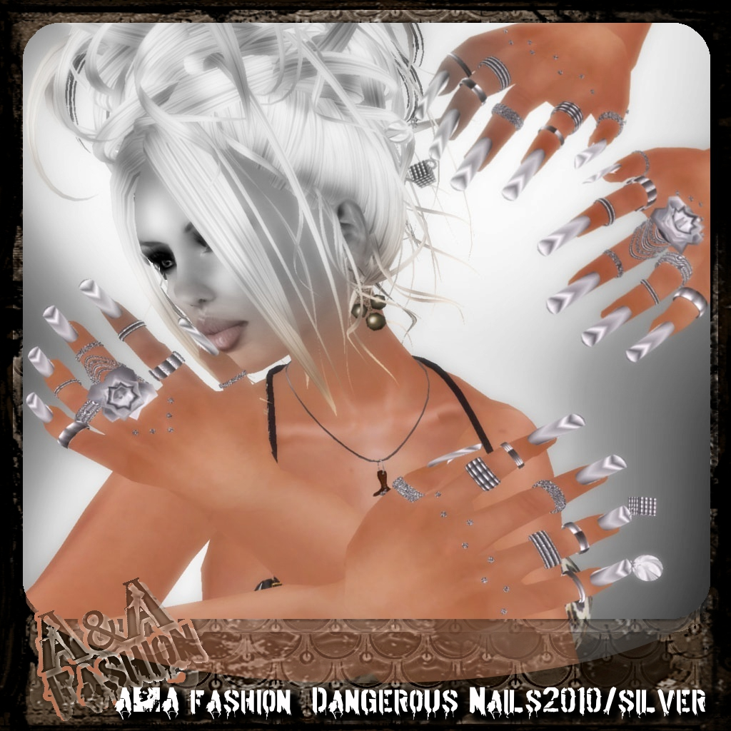 A&A Fashion  Dangerous Nails2010 silver