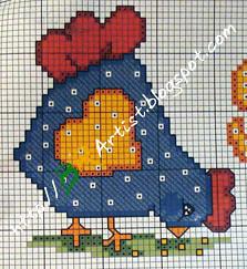 Gráfico de Ponto Cruz -galinha-01