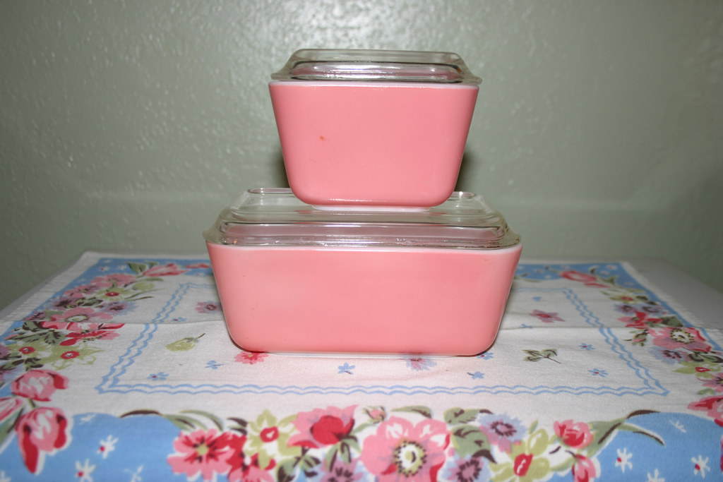 Pink Refrigerator Dishes