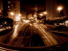 A So Paulo de hoje, ontem (Yuri Alexandre) Tags: old city cidade brazil cars bandeira brasil sepia night lights saopaulo flag centro velha sp carros noite luzes antiga velho antigo brazils regiao cvelho