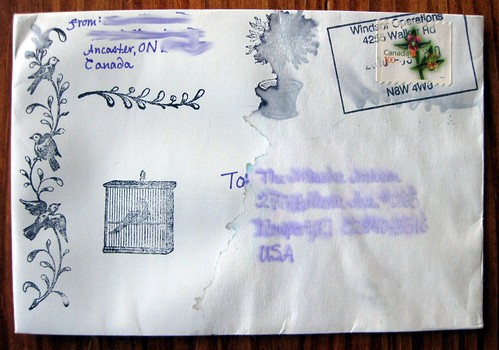 The amazing waterlogged letter, which actually arrived