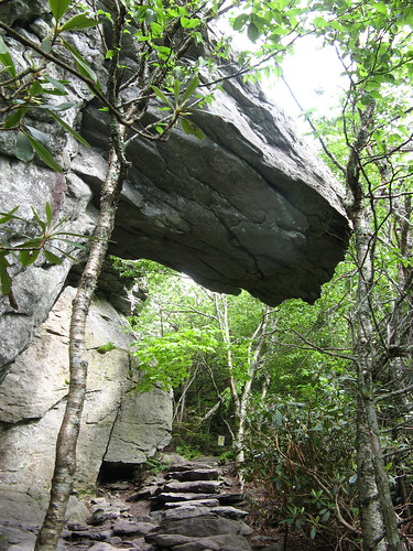 Rock overhang on Bridge Trail