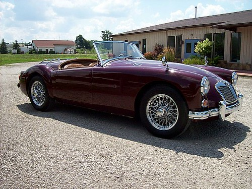 Picture of vintage roadster MG-MGA, luxury designed MG-MGA model