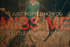 I Just Hope (volliem) Tags: trees forest lyrics treetrunk drake escarpment missme youngmoney vollie thankmelater june062010 lilwayne ijusthopethatyou alittlewhenimgone