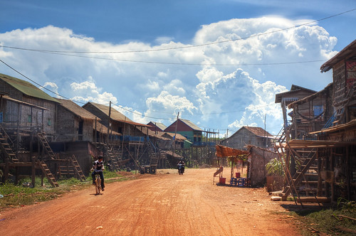 """Why are these Houses on Stilts?"" Cambodia, Kampong Kleng"