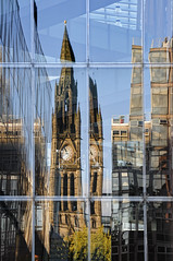 UK - Manchester - Reflections (Darrell Godliman) Tags: uk greatbritain travel england copyright reflection building tower tourism glass architecture facade reflections manchester nikon europe britishisles unitedkingdom britain cityhall clocktower reflected gb townhall allrightsreserved glazing architecturalphotography travelphotography greatermanchester alfredwaterhouse instantfave omot  travelphotographer flickrelite dgphotos darrellgodliman wwwdgphotoscouk architecturalphotographer d300s nikond300s ukmanchesterreflectionsdsc5543