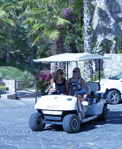 Golf Cart to get around the property