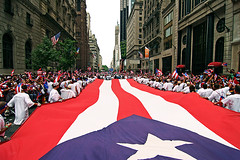 (* raymond) Tags: nyc people newyork crowd flags redwhiteblue puertoricandayparade