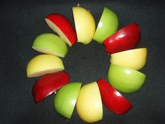 Circle of Apple Quarters
