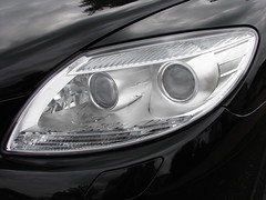 Light on black, Mercedes style (Baba Mdogo) Tags: light black sports car mercedes benz headlights utata:project=justblack