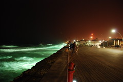 Nightfishing at Tel Aviv Port.