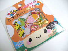 - Q-lia Happy Mushroom Stickers - (Warm 'n Fuzzy) Tags: cute mushroom stickers kawaii qlia stickersack smilepocket happymushroom