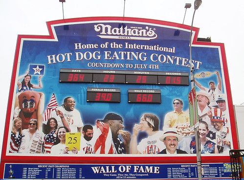 Hot dog eating contest 2007.