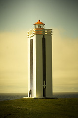 Lighthouse in Klfshamarsvk (Villi.Ingi) Tags: sea lighthouse iceland lookout explore shore getty beacon peopleschoice viti pipc dapa klfshamarsvk aplusphoto flickrelite fiveflickrfavs ljsviti klfshamarsviti