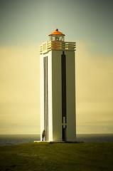 Lighthouse in Klfshamarsvk (Villi.Ingi) Tags: sea lighthouse iceland lookout explore shore getty beacon peopleschoice viti pipc dapa klfshamarsvk aplusphoto flickrelite fiveflickrfavs ljsviti klfshamarsviti