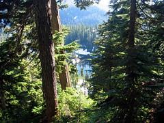 Margaret lake from ridge