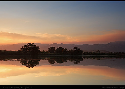 creek sunset cloud reflection photofool