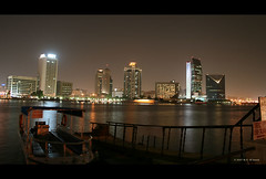 The Creek (seven years) Tags: skyline night creek dubai shot uae highrise deira nbd