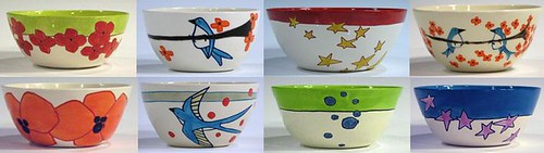 Handcrafted and painted bowl