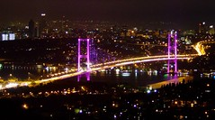 (ewren) Tags: bridge purple istanbul citylights bosphorus bogaz amlca boazkprs