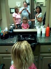 Big haircut day for Rachel!