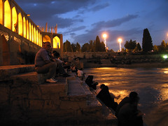 Khaju Bridge (matiya firoozfar) Tags: bridge night iran  esfahan atnight isfahan   zayandeh   rud life zayandehrud khaju matiya  polekhajoo  matiyafiroozfar   firoozfar giving river