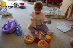 challah if you need me! (ilanasage) Tags: baby apple toy stuffed play honey rosh hashanah ilana challah shofar