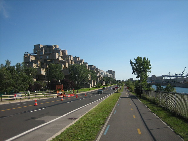 piste cyclable avec habitat 67