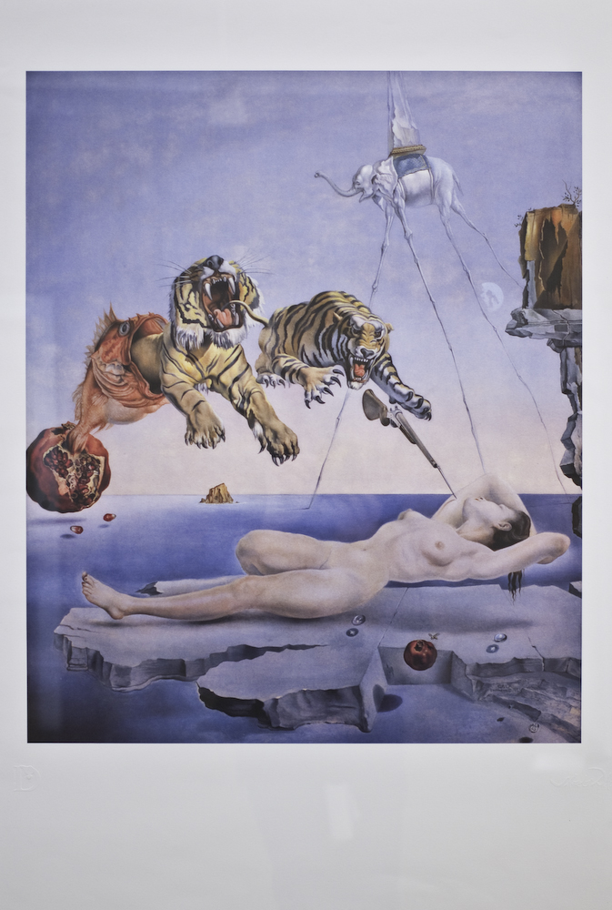 one second before awakening, by Dali