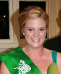 Laura Young, representing the Auckland Irish Society