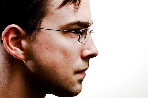 フリー写真素材, 人物, 男性, 横顔, 眼鏡・メガネ,