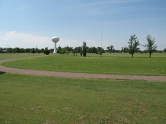 Blackmer Golf Course #3 (funny strange or funny ha ha) Tags: blue school 3 green tower oklahoma water reunion golf three town memorial day all weekend small course number fabulous ok hooker panhandle 2010 blackmer