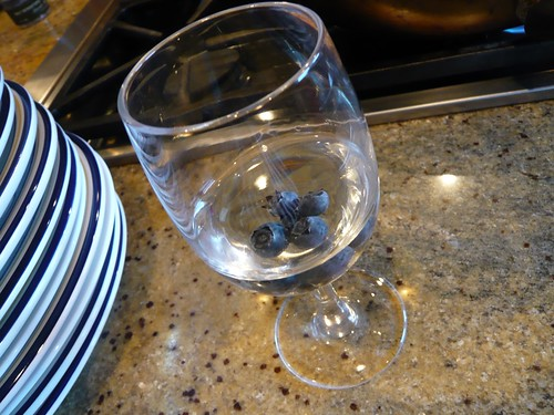 Wine with blueberries.