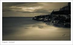 coquet island (SaltGeorge) Tags: longexposure sea rock clouds island wire rocks waves coquet weldingglass slowlight