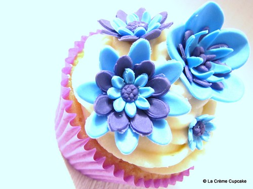 Electric Blue & Purple Cupcake