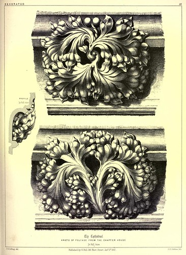 007-Adornos de follaje en piedra de la capilla de Nuestra Señora en la catedral de Ely-Gothic ornaments.. 1848-50-)- Kellaway Colling