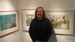 Mary Marshall with Original Art of Garth Williams (Mary G. Marshall) Tags: littlegoldenbooks marymarshall garthwilliams