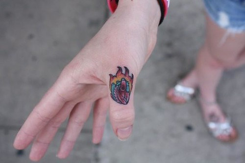 anatomical heart tattoo traditional