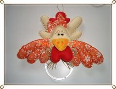 Porta Pano (Efeltro Borboleta) Tags: galinha feltro portapanos