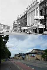 citizens theatre then and now (Dave S Campbell) Tags: white black scotland glasgow present then now past