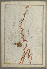 Illuminated Manuscript, Map of the coast of the Black Sea from Istanbul to Geresun from Book on Navigation, Walters Art Museum Ms. W.658, fol.371a (Walters Art Museum Illuminated Manuscripts) Tags: old art book map books baltimore illuminated cartography ottoman calligraphy manuscript neh walters islamic codex manuscripts httpthedigitalwaltersorg