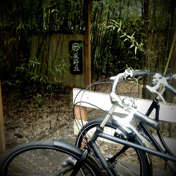 Dutch bike + ryokan