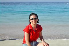 Yo y azul (anbri22) Tags: ocean 2002 sea portrait anna beach me grancanaria azul mare yo playa canarias playaamadores anbri annabriatico