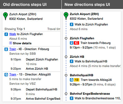 directions UI 4