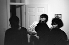1986-New_Years_party-roll02-14 (Paul-W) Tags: party bw film night washingtondc blackwhite scanned newyearseve 1986 negatives ilfordxp1400