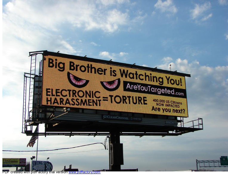 ELECTRONIC HARASSMENT = TORTURE.  Are You next?
